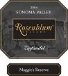 WA 91 Pts. - From the Sonoma Valley, the spicy, earthy 2004 Zinfandel Maggie's Reserve (94% Zinfandel, 4% Petite Sirah, and 2% Alicante) possesses abundant tannin, a more austere...